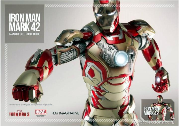 IRON MAN MK42 FIGURA METAL 45 CM MARVEL 1/4 SCALE - COMICAVE STUDIOS - 8886413932808 (Toys - Action Figures - Marvel)