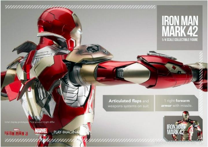 Figures and Dolls Marvel : IRON MAN MK42 FIGURA METAL 45 CM MARVEL 1/4 SCALE - COMICAVE STUDIOS - 8886413932808 - Foto 2 - 58554001
