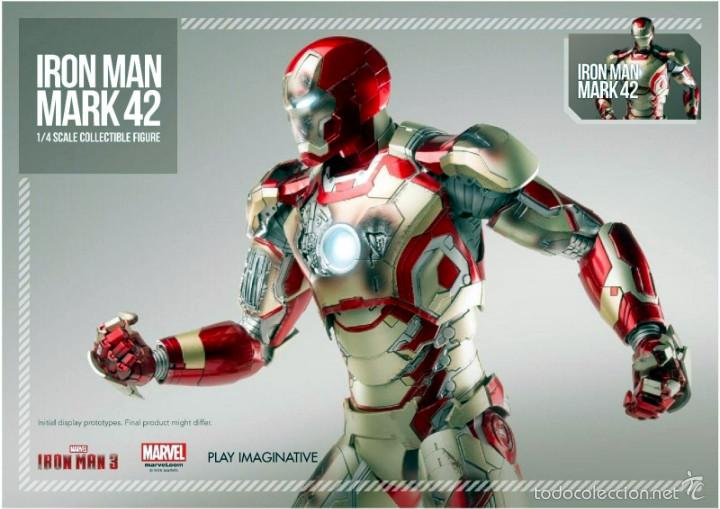 Figures and Dolls Marvel : IRON MAN MK42 FIGURA METAL 45 CM MARVEL 1/4 SCALE - COMICAVE STUDIOS - 8886413932808 - Foto 4 - 58554001