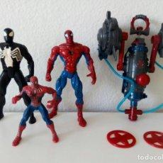 Figuras y Muñecos Marvel: 3 FIGURAS DE SPIDERMAN - NEGRO - VENOM - PELICULA - DIBUJOS ULTIMATE - MUÑECO - VENGADORES - IRONMAN. Lote 91863008