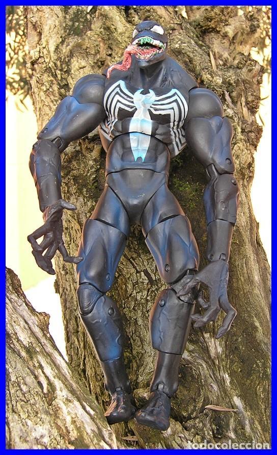 FIGURA DE ACCIÓN VENON....DE LA SERIE SPIDERMAN.....MARVEL 2005....MIDE 32 X 17 CMS (Juguetes - Figuras de Acción - Marvel)