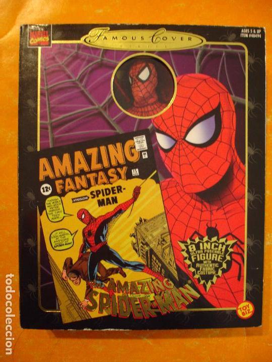 Figuras y Muñecos Marvel: FIGURA MARVEL FAMOUS COVER SPIDERMAN 8 INCH TOYBIZ 1997 . DIFICIL ! - Foto 2 - 68123209