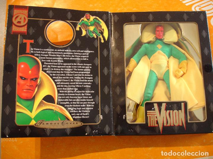 FIGURA MARVEL FAMOUS COVER THE VISION 8 INCH TOYBIZ 1998 COVERS . DIFICIL ! (Juguetes - Figuras de Acción - Marvel)
