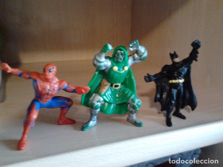 3 FIGURAS PVC: SPIDERMAN MARVEL AÑO 1996, DOCTOR MUERTE MARVEL 1996, BATMAN BULLY DC 1989 (Juguetes - Figuras de Acción - Marvel)