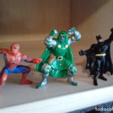 Figuras y Muñecos Marvel: 3 FIGURAS PVC: SPIDERMAN MARVEL AÑO 1996, DOCTOR MUERTE MARVEL 1996, BATMAN BULLY DC 1989. Lote 68129245