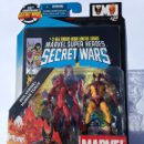 Figuras y Muñecos Marvel: BLISTER MARVEL SUPER HEROES SECRET WARS.WOLVERINE,HUMAND-TORCH.LOBEZNO,ANTORCHA. Lote 48786184