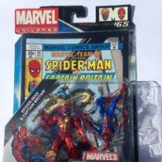 Figuras y Muñecos Marvel: MARVEL UNIVERSE SPIDERMAN VS CAP BRITANIA COMIC PACKS SECRET WARS COMICS GROUPS. Lote 68237601