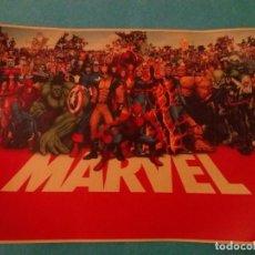 Figuras y Muñecos Marvel - poster de coleccion años 80__HEROES DE MARVEL___medidas 42x30 cm - 72165119