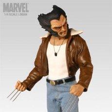 Figuras y Muñecos Marvel: MARVEL LOBEZNO LOGAN FIGURA DE RESINA DE SIDESHOW A ESTRENAR RARA X-MEN NO PVC. Lote 78273269