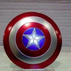 Figuras y Muñecos Marvel: CAPITAN AMERICA ESCUDO DE 10CM. DE PVC EN CAJA. Lote 85495800