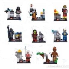 Figuras y Muñecos Marvel: 8 FIGURAS DE LOS GUARDIANES DE LA GALAXIA (NUEVO) LOTE 2. Lote 236442835