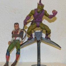 Figuras y Muñecos Marvel: FIGURA DE ACCION MARVEL COLECCIONISTAS. DUENDE VERDE Y PETER PARKER FIGURA DE ACCION MARVEL SELECT. Lote 91947240