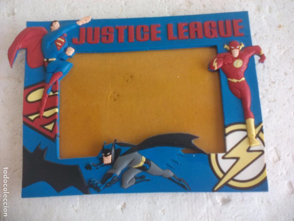 Marco de fotos Justice League. DC comics Superheroes, superman, batman, iron man.Liga de la justicia