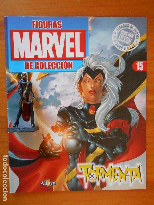 FIGURA MARVEL COLECCION ALTAYA - DE PLOMO - Nº 15 TORMENTA - INCLUYE REVISTA (7C) (Juguetes - Figuras de Acción - Marvel)