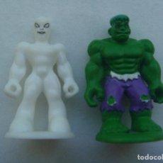 Figuras y Muñecos Marvel: LOTE DE 2 FIGURITAS DE SUPERHEROES DE MARVEL. Lote 104183595