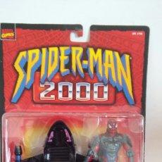 Figurines et Jouets Marvel: SPIDERMAN 2000 SKY SLED CON VEHÍCULO VOLADOR MULTIUSOS.SPIDER-MAN MARVEL FAMOSA.NUEVO.. Lote 253343125