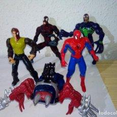 Figuras y Muñecos Marvel: LOTE FIGURAS SPIDERMAN ARAÑA PARKER VENOM CARNAGE. Lote 104523995