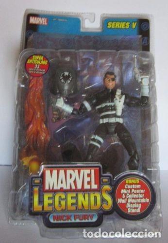 MARVEL LEGENDS NICK FURY MUY DIFICIL PRECINTADO VARIANTE SERIE 5 HEROES MARVEL (Juguetes - Figuras de Acción - Marvel)