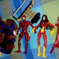 Figuras y Muñecos Marvel: VARIOS MARVEL LEGENDS : SPIDERWOMAN, BRUJA ESCARLATA Y DAREDEVIL BUEN ESTADO. Lote 90987592