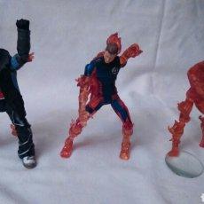 Figuras y Muñecos Marvel: LA ANTORCHA HUMANA DE LOS 4 FANTASTICOS, 3 FIGURAS PROCESO. Lote 107739810