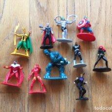 Figuras y Muñecos Marvel: LOTE 10 FIGURAS PLASTICO MARVEL. Lote 111324247