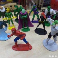 Figuras y Muñecos Marvel: LOTE 11 FIGURAS DE PVC MARVEL.SPIDERMAN CLÁSICO Y ENEMIGOS.ELECTRO, EL LAGARTO,MISTERIO....... Lote 112368211