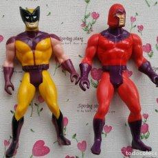 Figuras y Muñecos Marvel: LOBEZNO Y MAGNETO DE MARVEL 1984 SECRET WARS. Lote 116160307
