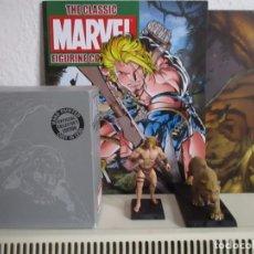 Figuras y Muñecos Marvel: KA-ZAR Y ZABU FIGURA DE PLOMO MARVEL EAGLEMOSS CON CAJA, REVISTA Y POSTER.. Lote 117067219
