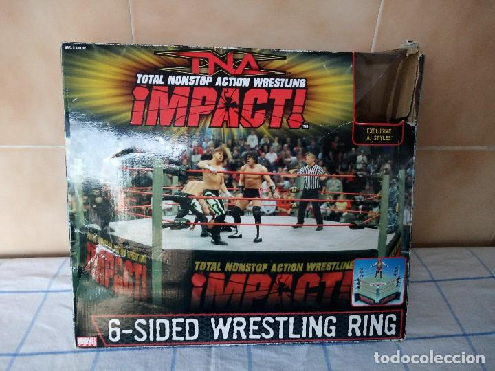 TNA IMPACT ACTION WERSTLING 6 SIDED RING W/BONUS RED AJ STYLES FIGURA & X-DIVISION CHAMPIONSHIP BELT (Juguetes - Figuras de Acción - Marvel)