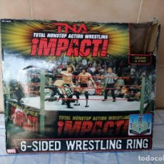 Figuras y Muñecos Marvel: TNA IMPACT ACTION WERSTLING 6 SIDED RING W/BONUS RED AJ STYLES FIGURA & X-DIVISION CHAMPIONSHIP BELT. Lote 120258987