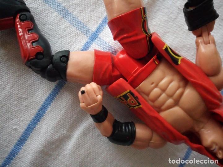 Figuras y Muñecos Marvel: TNA IMPACT ACTION WERSTLING 6 SIDED RING W/BONUS RED AJ STYLES FIGURA & X-DIVISION CHAMPIONSHIP BELT - Foto 3 - 120258987