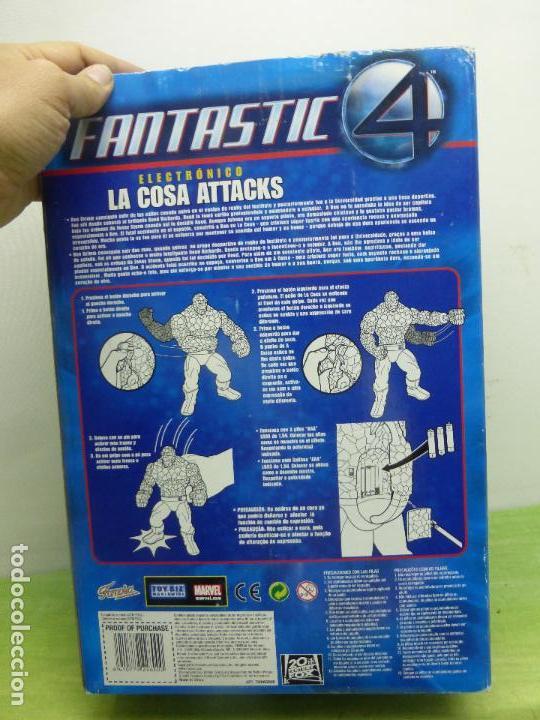 Figuras y Muñecos Marvel: LA COSA ATTACKS ELECTRÓNICO FANTASTIC 4 DE FAMOSA. 10 FRASES. CAMBIA EXPRESIÓN CARA - CAJA ORIGINAL- - Foto 3 - 122976735