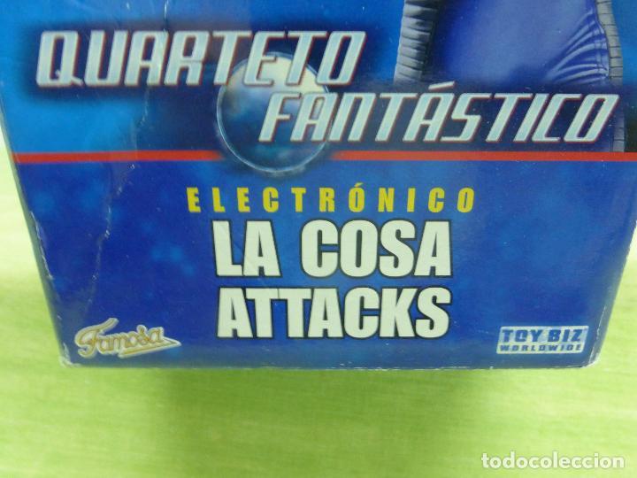 Figuras y Muñecos Marvel: LA COSA ATTACKS ELECTRÓNICO FANTASTIC 4 DE FAMOSA. 10 FRASES. CAMBIA EXPRESIÓN CARA - CAJA ORIGINAL- - Foto 4 - 122976735