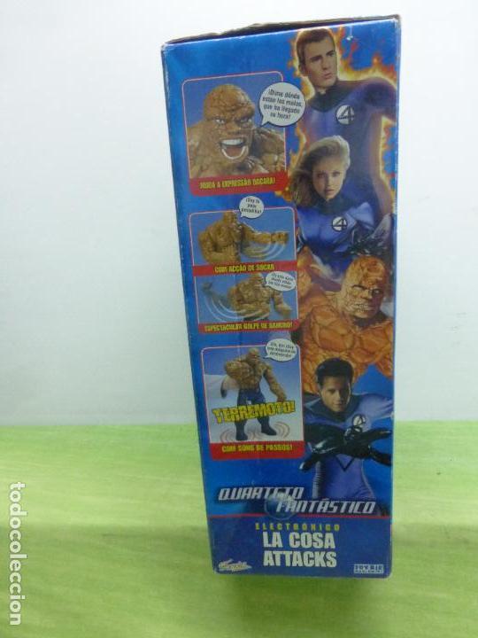 Figuras y Muñecos Marvel: LA COSA ATTACKS ELECTRÓNICO FANTASTIC 4 DE FAMOSA. 10 FRASES. CAMBIA EXPRESIÓN CARA - CAJA ORIGINAL- - Foto 5 - 122976735