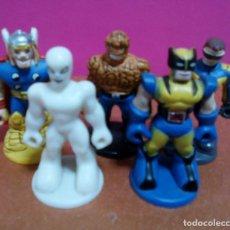 Figuras y Muñecos Marvel: LOTE CINCO SUPERHEROES. MINIATURAS KINDER. Lote 124492935