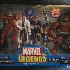 Figuras y Muñecos Marvel: 4 FANTASTICOS FOUR MARVEL LEGENDS - 7 FIGURAS + POSTER. Lote 180144075