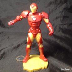 Figuras y Muñecos Marvel: FIGURA ARTICULADA EN CABEZA Y HOMBROS IRON MAN TM 2015 13,5 CM. Lote 130443954