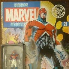 Figuras y Muñecos Marvel: MARVEL FIGURAS DE PLOMO PINTADAS A MANO DE ALTAYA. N 21 CAPITÁN BRITANIA. Lote 130772332