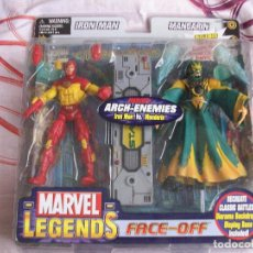 Figuras y Muñecos Marvel: MARVEL LEGENDS IRON MAN MANDARIN PACK FACE OFF. Lote 130932788