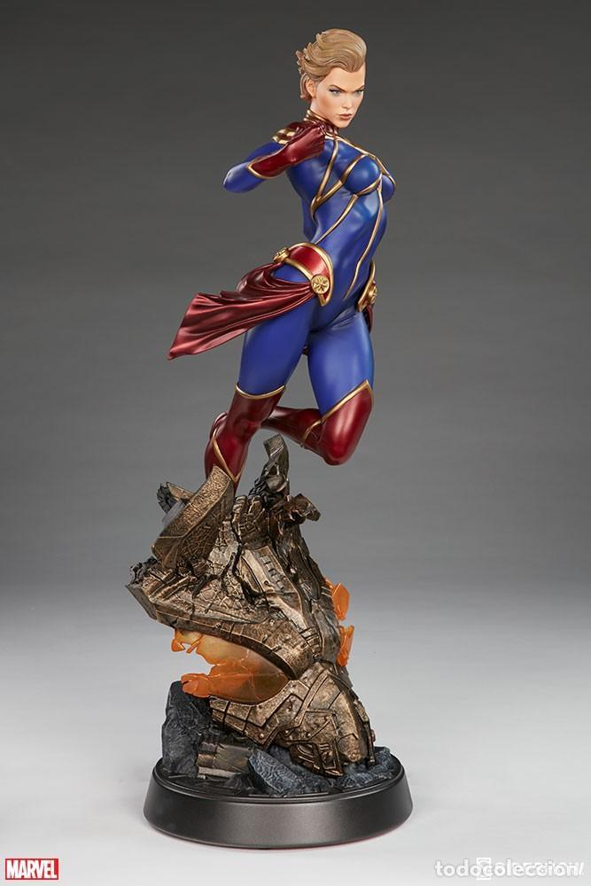Figuras y Muñecos Marvel: CAPTAIN MARVEL SIDESHOW PREMIUM FORMAT ESTADO NUEVO AMBAS CAJAS PRECIO NEGOCIABLE - Foto 2 - 158213825