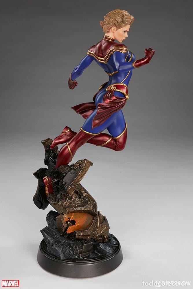 Figuras y Muñecos Marvel: CAPTAIN MARVEL SIDESHOW PREMIUM FORMAT ESTADO NUEVO AMBAS CAJAS PRECIO NEGOCIABLE - Foto 3 - 158213825
