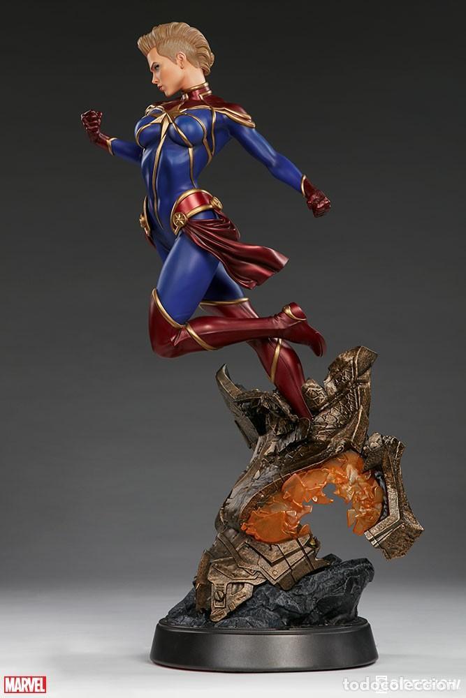 Figuras y Muñecos Marvel: CAPTAIN MARVEL SIDESHOW PREMIUM FORMAT ESTADO NUEVO AMBAS CAJAS PRECIO NEGOCIABLE - Foto 4 - 158213825