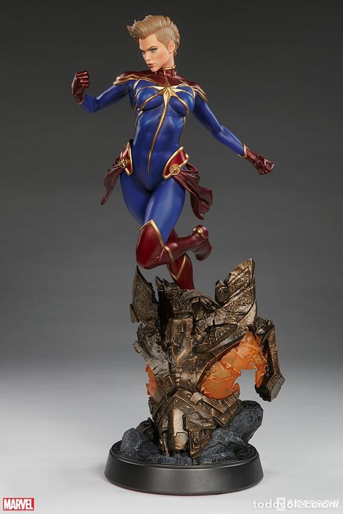 Figuras y Muñecos Marvel: CAPTAIN MARVEL SIDESHOW PREMIUM FORMAT ESTADO NUEVO AMBAS CAJAS PRECIO NEGOCIABLE - Foto 5 - 158213825