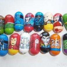 Figuras y Muñecos Marvel: TICO TACOS MARVEL - MIGHTY BEANZ - 15 UNIDADES - GIOCHI PREZIOSI - JUMPING BEANS. Lote 131577522