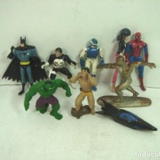 Figuras y Muñecos Marvel: 10X FIGURA ACCION GOMA PVC -SUPER HEROE MARVEL DC COMIC ERTL BATMAN SPIDERMAN SILVER HULK ... Lote 135317026
