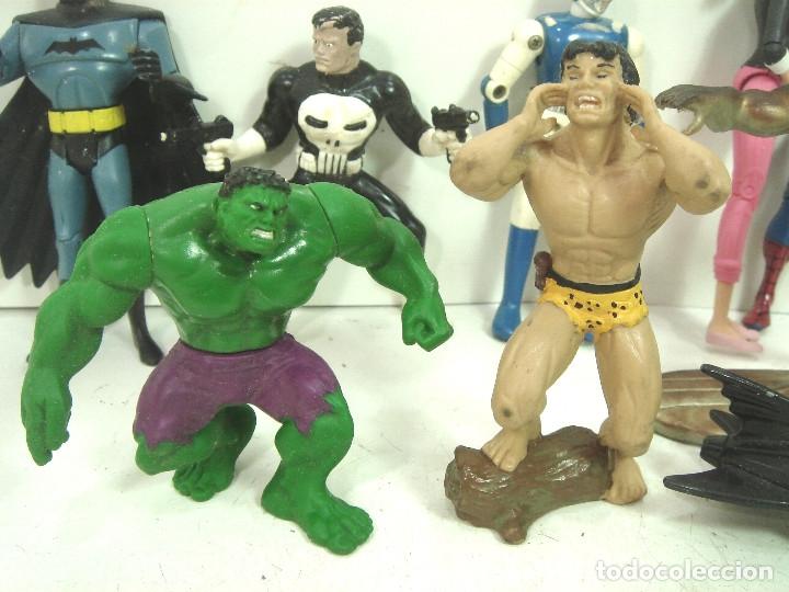 Figuras y Muñecos Marvel: 10X FIGURA ACCION GOMA PVC -SUPER HEROE MARVEL DC COMIC ERTL BATMAN SPIDERMAN SILVER HULK .. - Foto 2 - 135317026