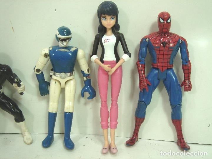 Figuras y Muñecos Marvel: 10X FIGURA ACCION GOMA PVC -SUPER HEROE MARVEL DC COMIC ERTL BATMAN SPIDERMAN SILVER HULK .. - Foto 4 - 135317026