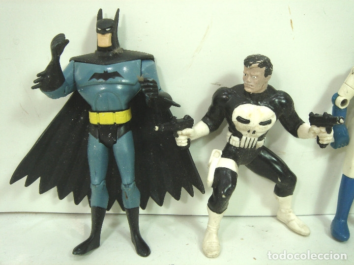Figuras y Muñecos Marvel: 10X FIGURA ACCION GOMA PVC -SUPER HEROE MARVEL DC COMIC ERTL BATMAN SPIDERMAN SILVER HULK .. - Foto 5 - 135317026