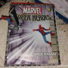 Figuras y Muñecos Marvel: MARVEL SUPER HEROES FIGURA PLOMO SPIDERMAN CON FASCÍCULO 1 PLANETA AGOSTINI 2004. Lote 136223650