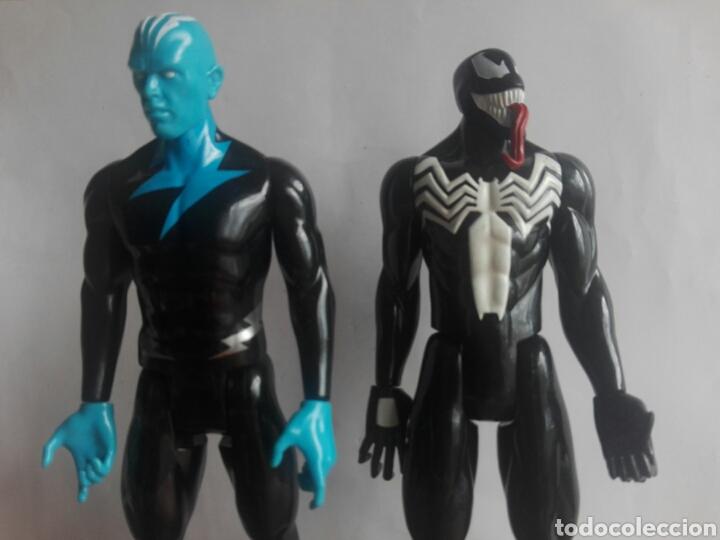 Figuras y Muñecos Marvel: LOTE 2 VILLANOS TITAN HEROES MARVEL HASBRO 2014 ELECTRO Y VENOM 29 CENTIMETROS - Foto 3 - 136812385